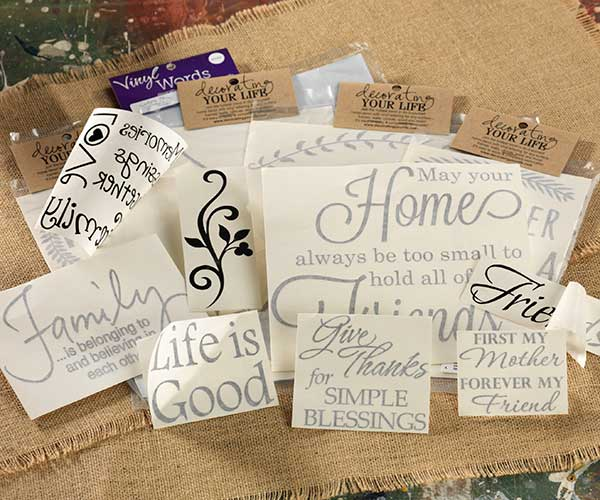 Vinyl words sayings letters and images craft warehouse for Vinyl sayings for crafts