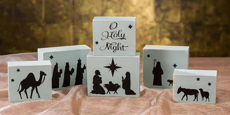 O holy night nativity block set craft warehouse for O holy night decorations