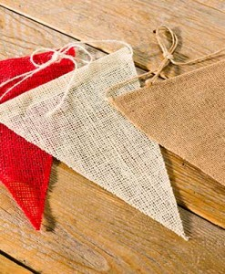 Naked Jute Pennants Red or 2 natural colors