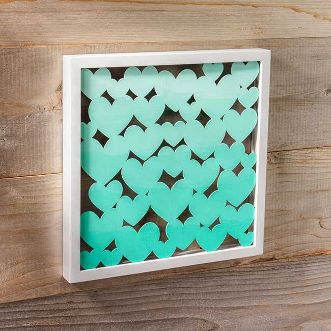 Ombre heart diy shadow box craft warehouse - Bathroom wall decor diy ...