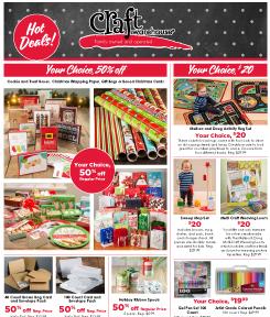 Craft Warehouse December Sale