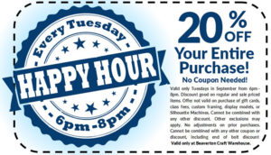 Happy Hour Tuesday 20% OFF - Beaverton @ Beaverton Location | Beaverton | Oregon | United States