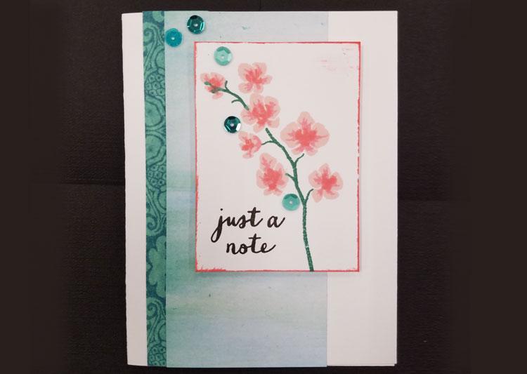 Iris Layering Card