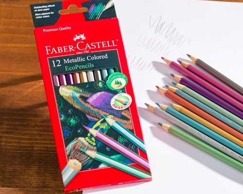 Faber-Castell Metallic Colored Pencils 12 Color Set ...