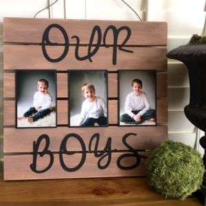 Pallet wood photo holder diy