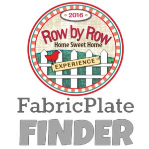 Row by Row Fabric Plates
