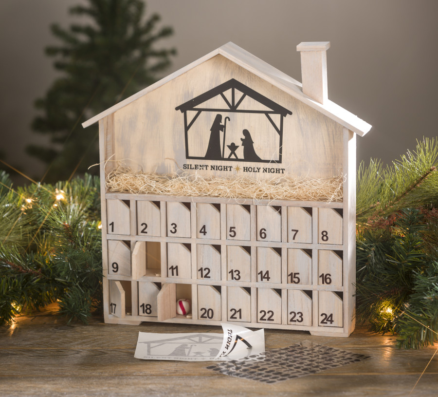 Diy Wooden Advent Calendar : Wood advent diy calendar craft warehouse