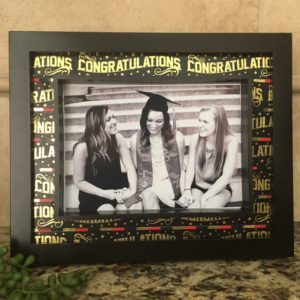 Washi tape graduation frame diy