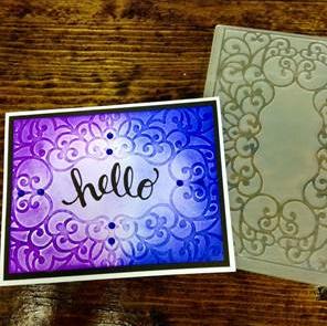 Color Blending Embossed Card Make & Take @ All Locations | Gresham | Oregon | United States