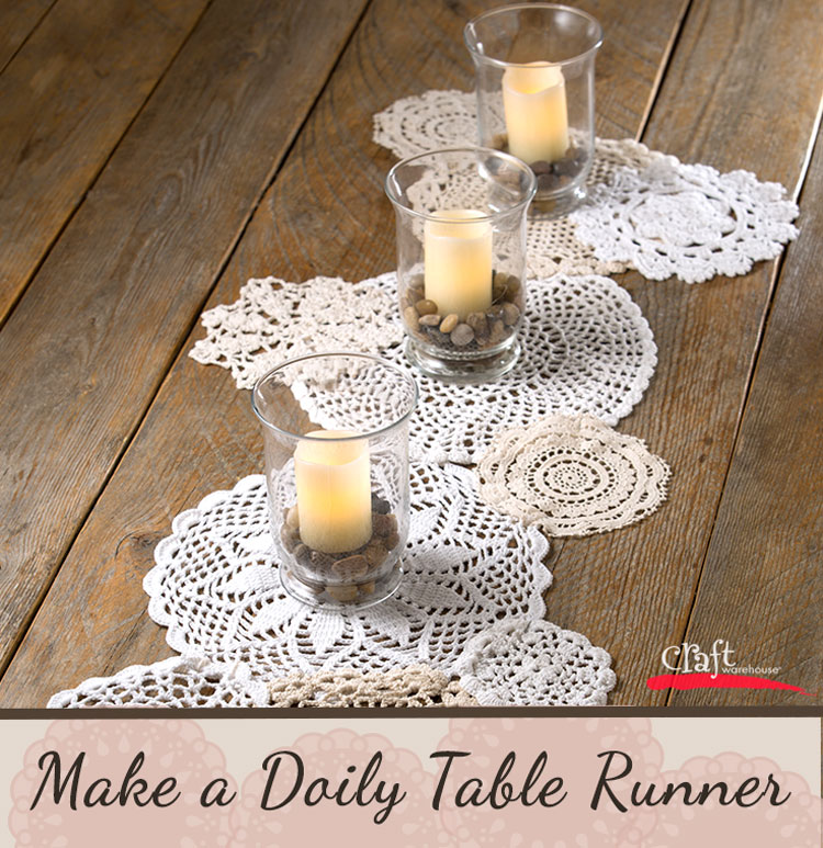 Make a Crochet Lace Doily Table Runner with Craft Warehouse