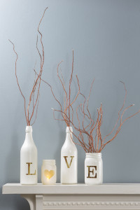 Montana Gold spray paint valentines decor
