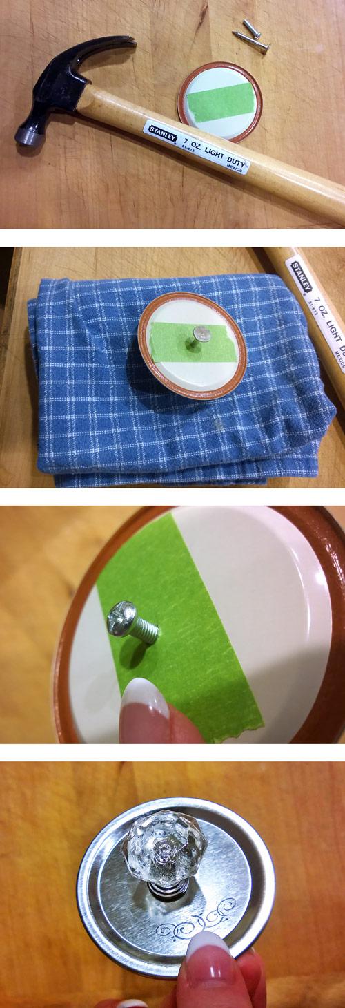 How to make a knob topped mason jar at Craft Warehouse