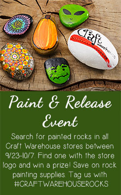 Paint and Release Rock Painting Event at Craft Warehouse