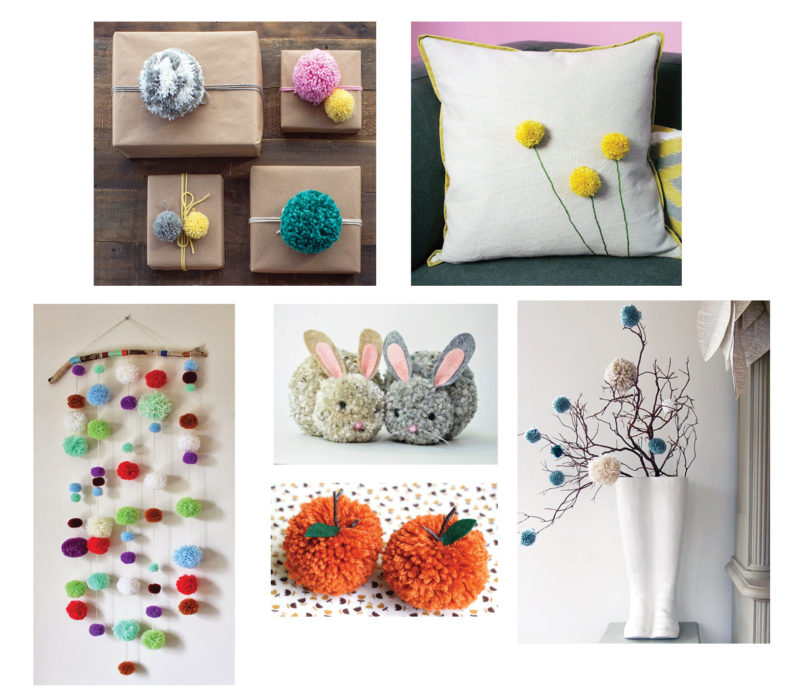 Examples of pom pom crafts