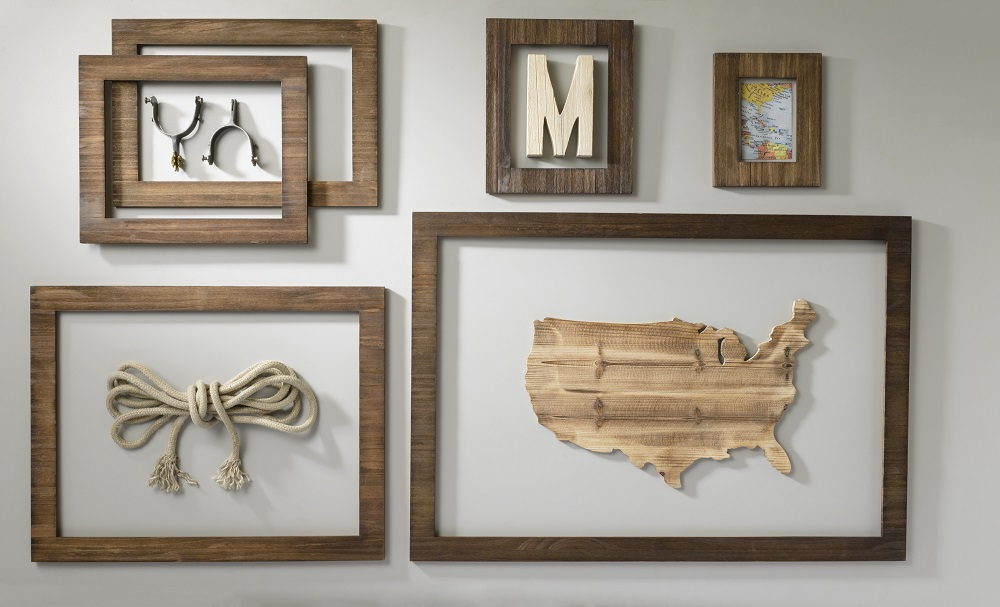 Rustic Open Back Frame Display Craft Warehouse