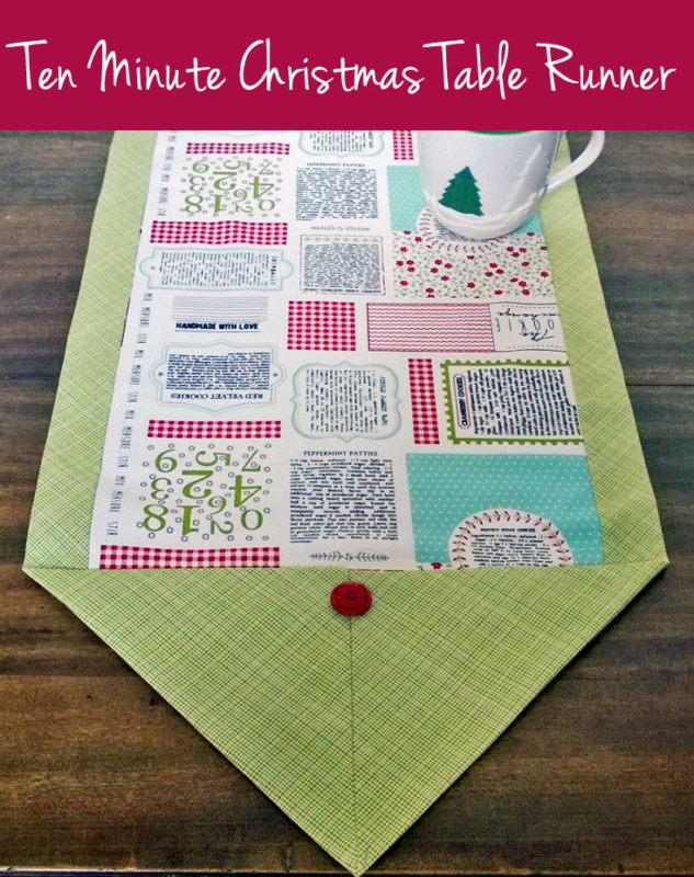 Easy Ten Minute Table Runner for Christmas from Craft Warehouse