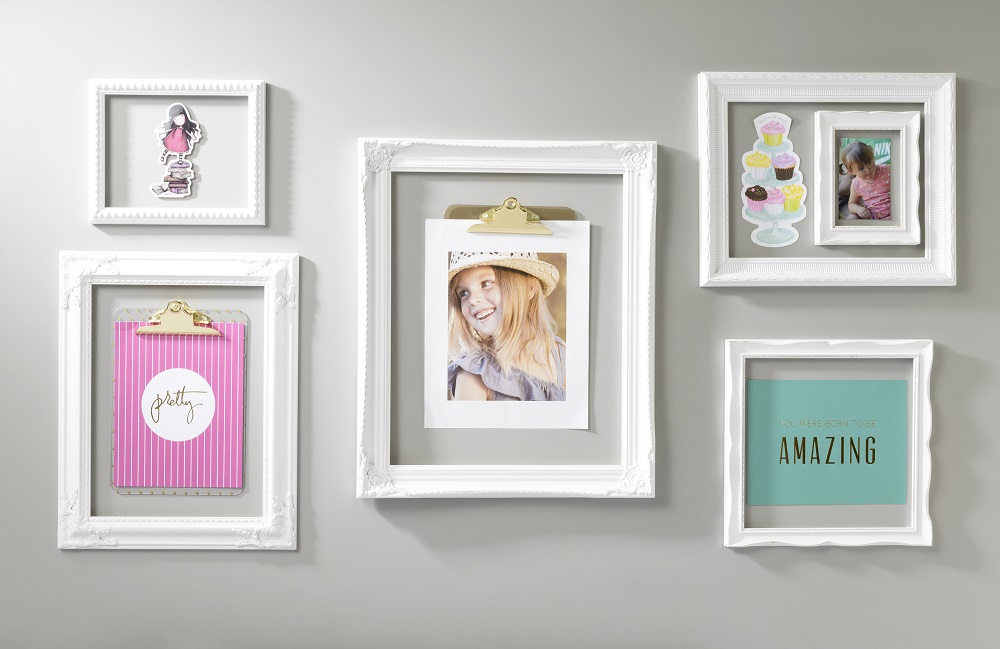 White open frame trendy wall art craft warehouse - White wall picture frames ...