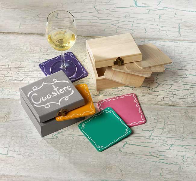 Colorful Chalkboard DIY Coasters