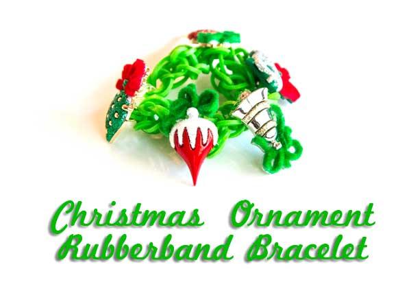 Christmas Ornament Rubber Band Bracelet