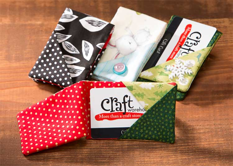 How to Make Fabric Gift Card Holders for Craft warehouse Gift Cards