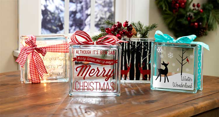 Holiday Glass Blocks Craft Warehouse