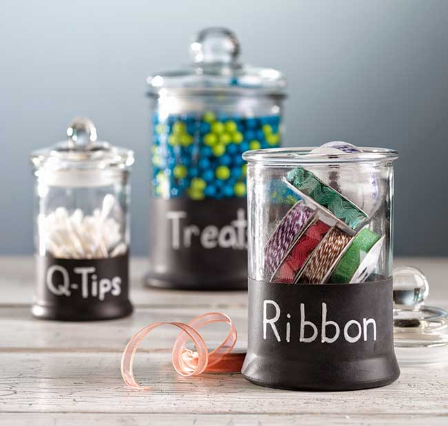 DIY Chalkboard Bottles & Jars