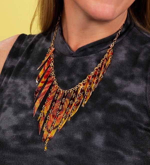 Ice Resin Batik Necklace