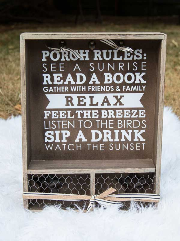 Porch Rules Sign