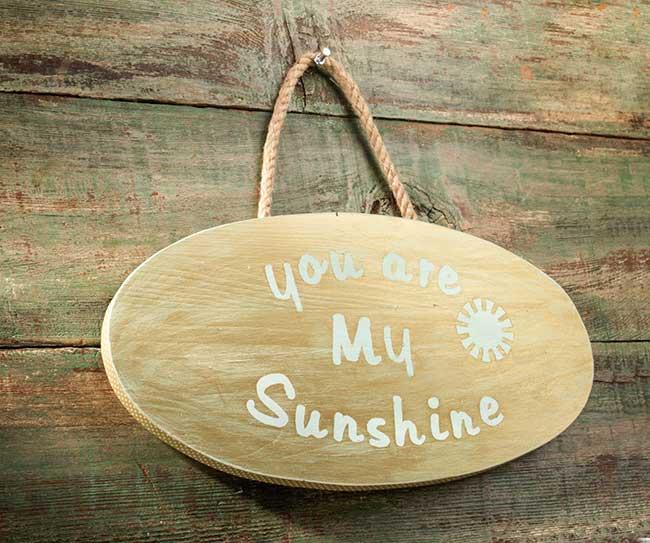 "Hazel and Ruby Handmade ""You are My Sunshine"" Plaque"