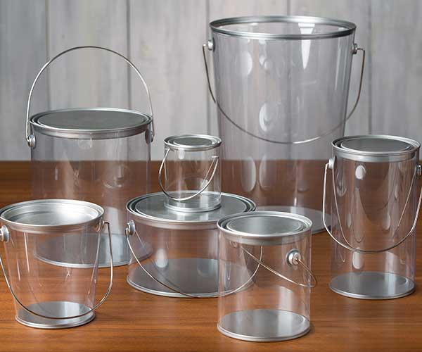 clear acrylic paint pails | craft warehouse