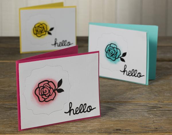 Glowing Rose Die Cut Card - Make-n-Take Final