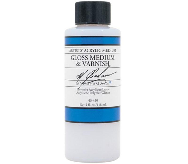 M. Graham Acrylic Medium 4-ounce - Gloss