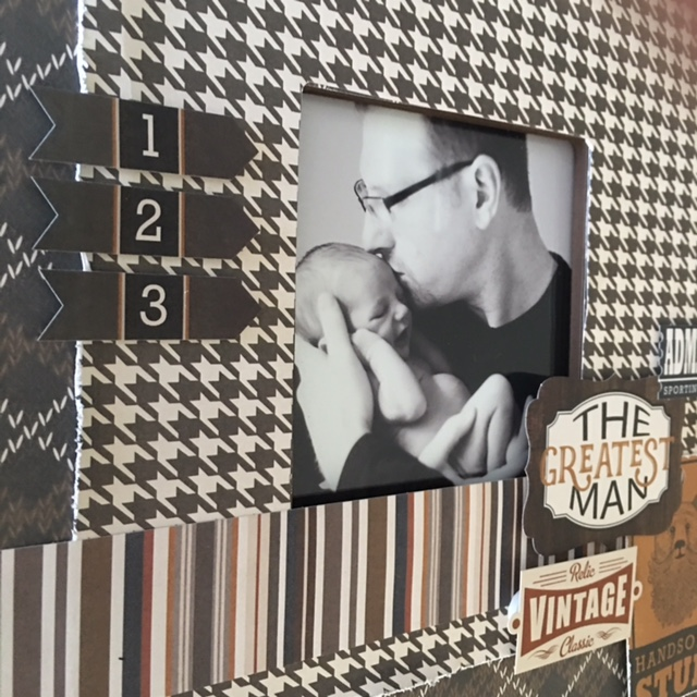 photo play this guy scrapbook paper