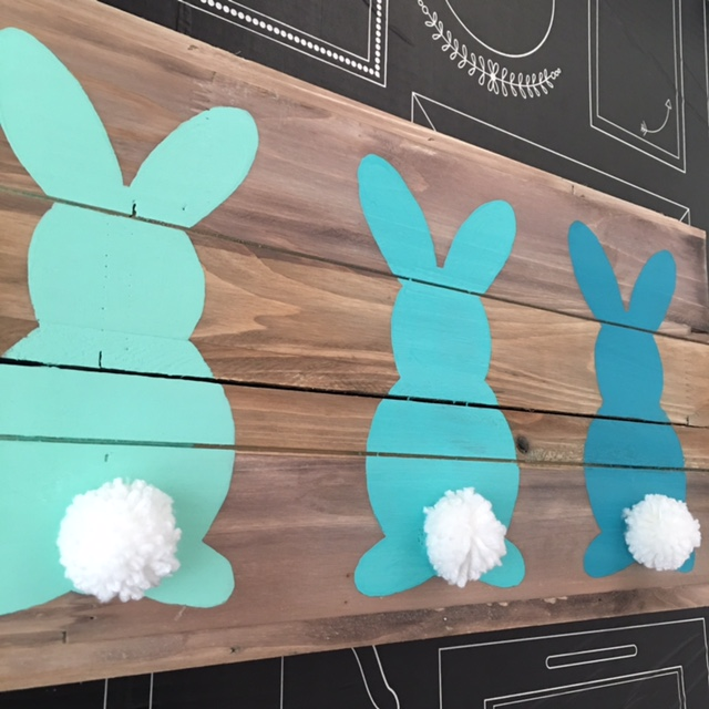 Ombre Easter Bunny Wood Board Art Craft Warehouse