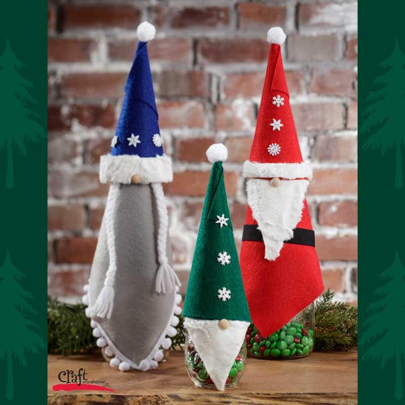 Make these cute Gnome Mason Jar Toppers at Craft Warehouse