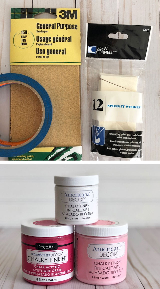 Supplies to paint Buffalo Check Mason Jar