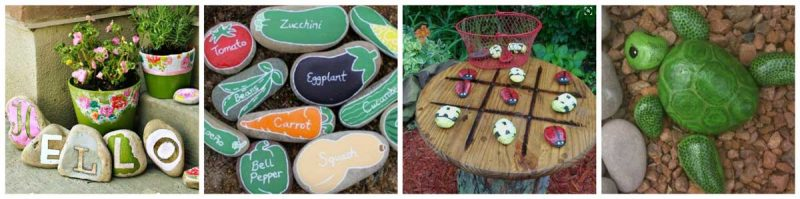 Ideas for Painted Rocks for Outdoor Decor
