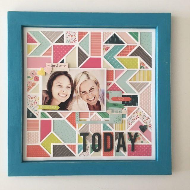 Pink Paislee Scrapbook Kit wall art fancy free