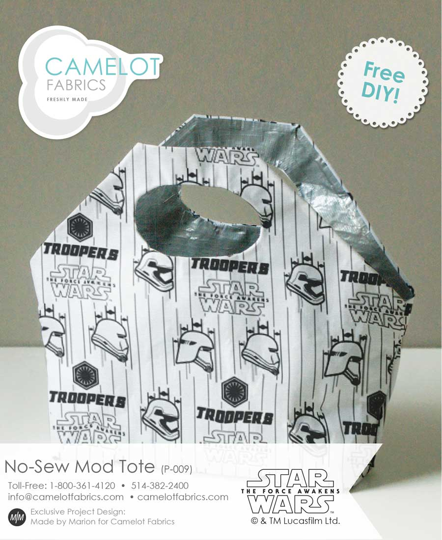 Star Wars No Sew Mod Fabric tote by Camelot Fabric