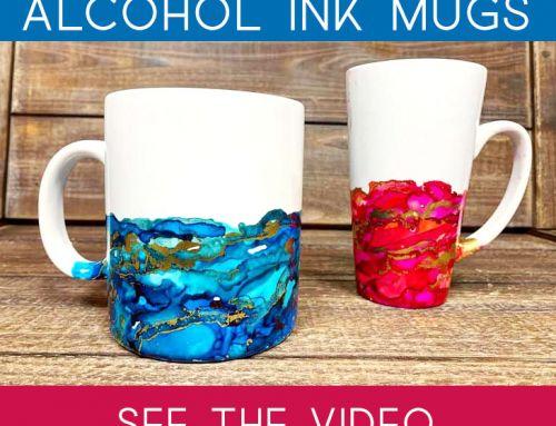 Make this: Colorful Alcohol Ink Mug
