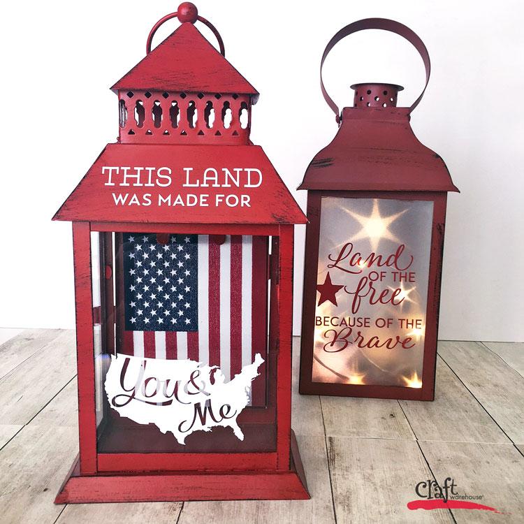 How to Make an Americana Lantern at Craft Warehouse