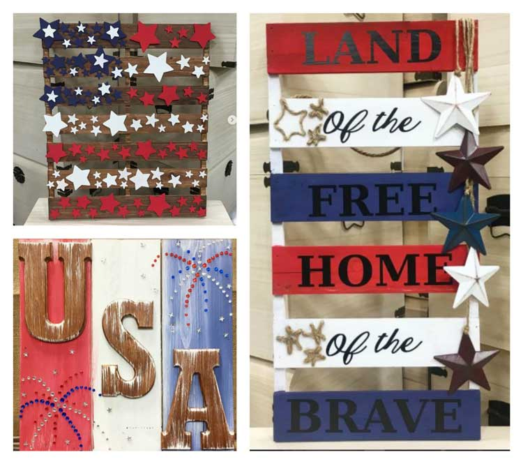 Make this americana signs for summer holidays craft for Americana crafts to make