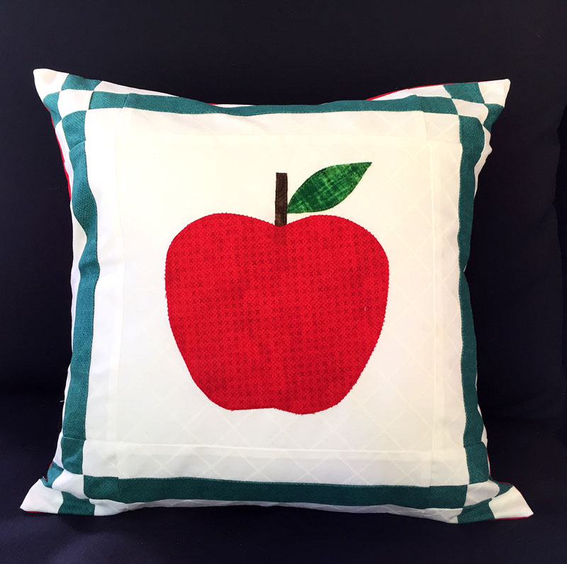 Sew an Apple Pillow - Free Pattern and Template