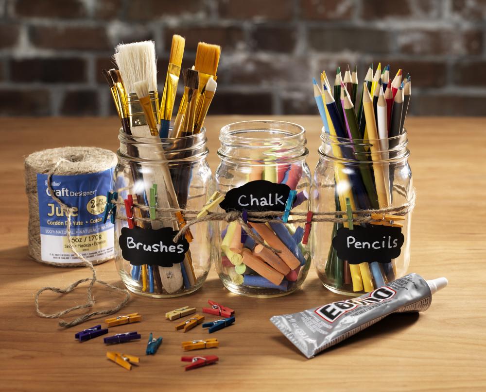 chalkboard lable art mason jar organizing