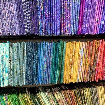 Batik fabrics at Craft Warehouse Quilt Shop