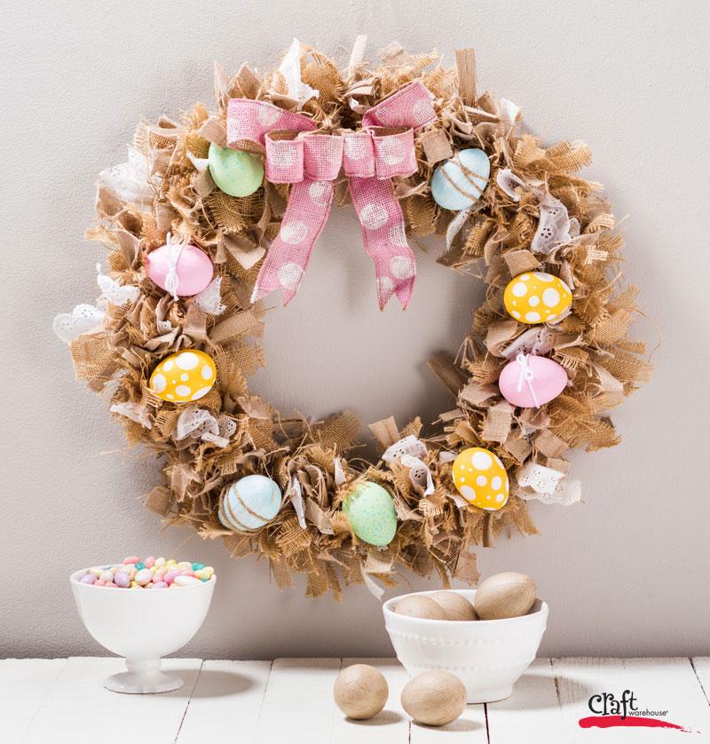 Make this Bird's Nest Wreath for Easter Spring Decor