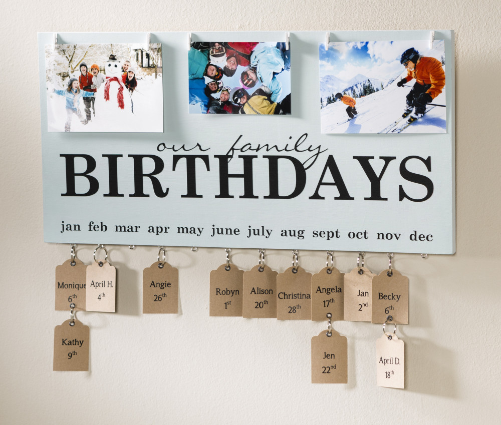 Birthday Calender Display