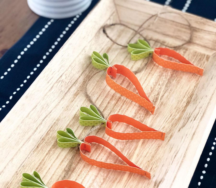 Make a carrot garland from paper for spring and Easter
