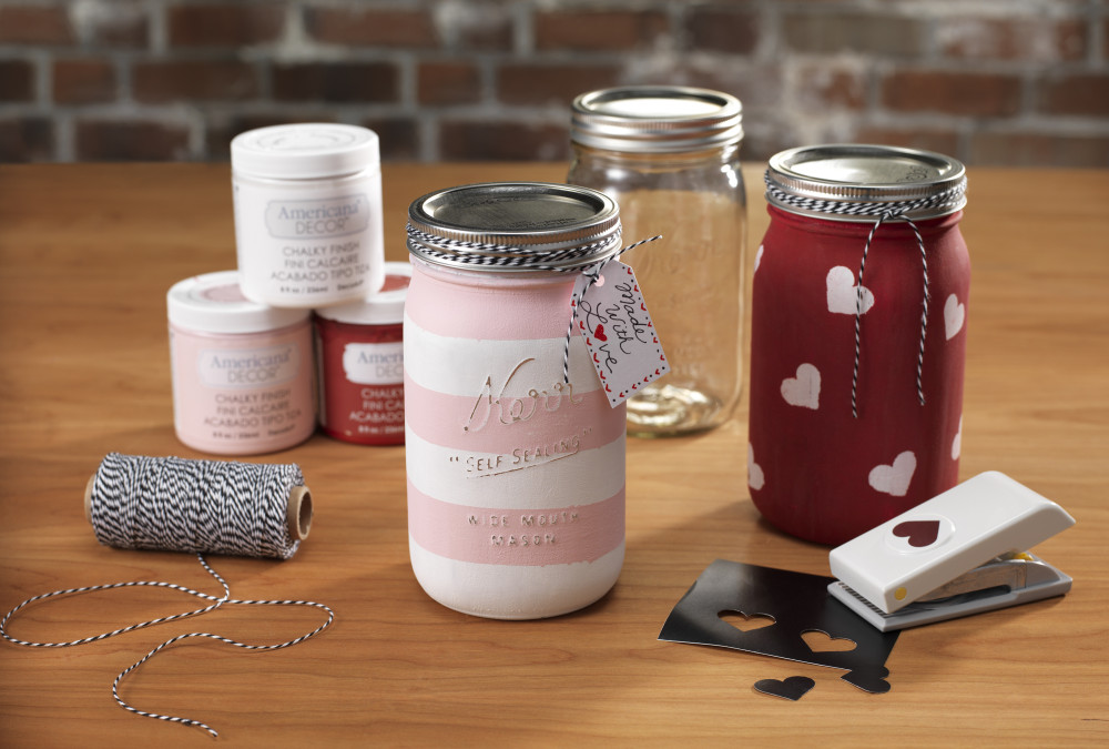 Americana Chalky Paint mason jar