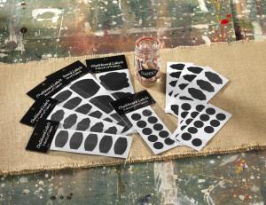 chalkboard sticker organize lables